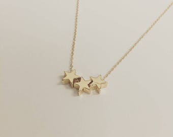 18k Gold Filled Gold Stars Necklace
