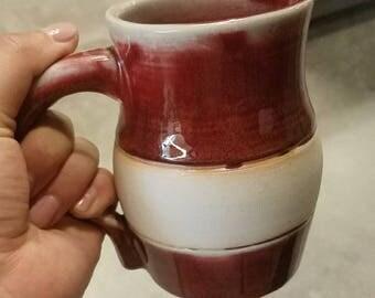 Red Porcelain Mug