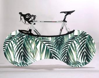 Bike packaging cover, Gift for dad, Bike storage bag, Bike accessory, Wheelpants, Wheel pants, Jungle print, bicycle gift item, bike gifts