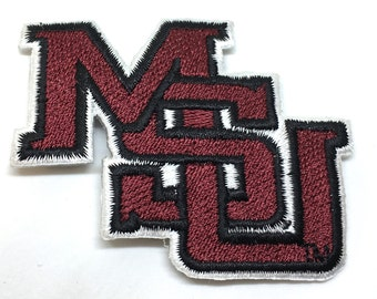 Mississippi State Bulldogs MSU embroidered iron on patch MSU