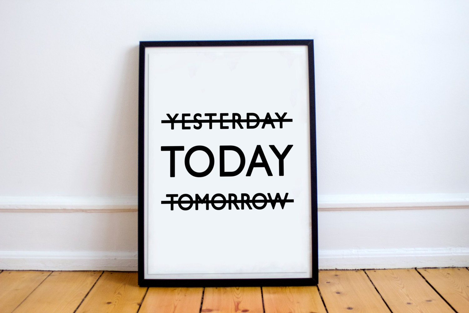 Yesterday today tomorrow print home decor wall art for Tomorrow s home