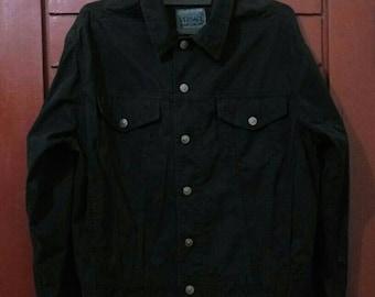Vintage Versace Jeans Couture Jacket Authentic Size S fit L Black Italy