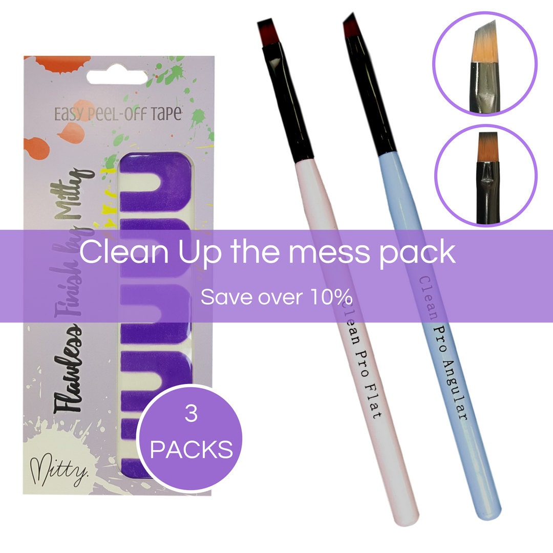 Nail Art Clean up brush Pack Clean Up The Mess