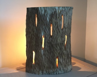 Table lamp in wood