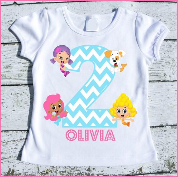 Custom Personalized Bubble Guppie Girls Birthday tee shirt Molly Deema Oona