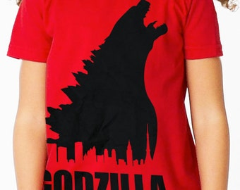 Godzilla Movie Film Childrens Red T Shirt