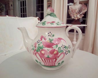 HANDPAINTED FRENCH TEAPOT