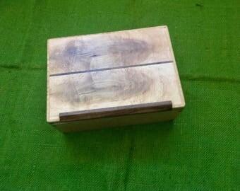 Birdseye Maple with inlay keepsake/ stash box