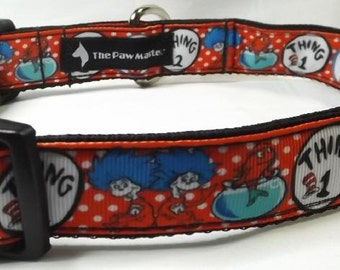 Dr Seuss Dog Collar -  FREE Shipping