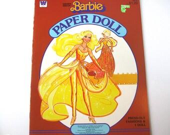 Barbie Paper Dolls-Golden Dream-Vintage Paper Dolls 1982, Paper Dolls, Barbie Doll, Vintage Paper Dolls
