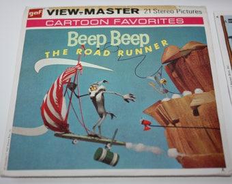 GAF View-Master Beep Beep The Road Runner Reel Set + Booklet 1967 Complete B538