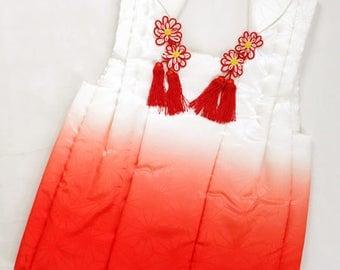 "Japanese M51106 Cute Kids Vest ""Hifu"" Kimono Coat  Vintage"
