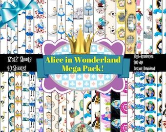 Alice in Wonderland Vintage, Alice in Wonderland Headband, Alice in Wonderland Gifts, Alice in Wonderland Nursery, Alice in Wonderland Art