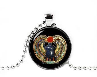 Egyptian Scarab Necklace Egyptian Beetle Pendant Scarab Jewelry
