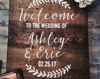 Rustic Wedding Welcome Sign, Wood Wedding Signs, Hand Painted Signs, Rustic Wood Signs, Wood Signs, Welcome Sign, Wedding Welcome Sign