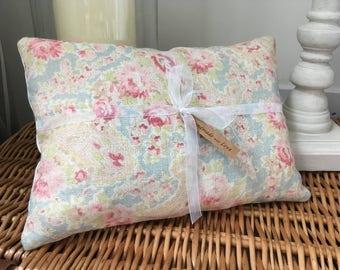 Handmade Small Lavender Cushion Pillow In Sarah Hardaker Fabic