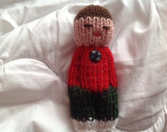 small doll, knitted doll, worry doll