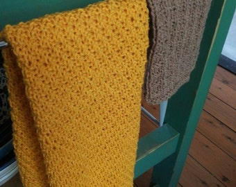 Kitchen towel and dishcloth set - kitchen towel - dishcloth - knitted kitchen towel - tea towel - knitted dishcloth