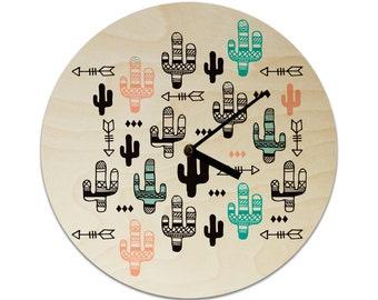 Cactus Arrows Childrens Clock / Kids Clock