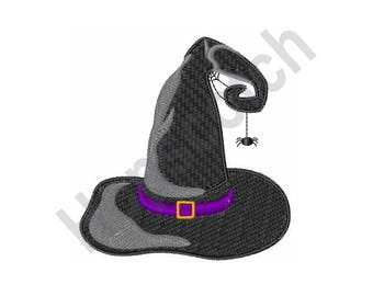 Halloween Witch Hat - Machine Embroidery Design