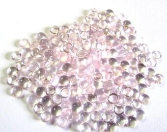 25 Pieces Lot 6mm ROSE QUARTZ Round Cabochon Smooth polished gemstone
