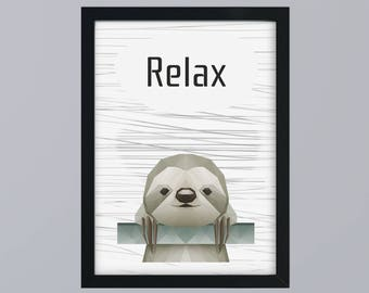Subdivisional sloth - unframed art print