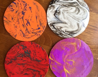 Opposites Attract set of 4 coasters