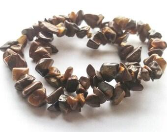 Tiger's eye chip bracelet, tiger eye bead bracelet, gemstone bracelet beaded stretch bracelet, tiger eye jewelry, beaded stack bracelet