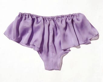 Silk lingerie, Silk  french knickers, lavender panties, lavender knickers, violet french knickers, silk lavender knickers, silk panties,