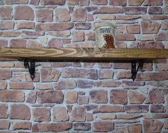 Rustic Style Handmade Wall Shelf- Many Colours!