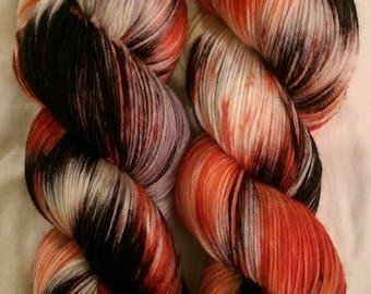 Hand Dyed 4 Ply Sock Superwash Polwarth Wool Yarn