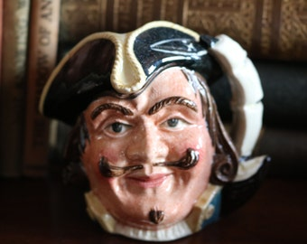 SALE  Excellent retired Royal Doulton Captain Henry Morgan toby character jug D6469