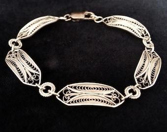 Silver Filigree Bracelet Cadiz, Sterling Silver Bracelet, Filigree, Filigrana Cordobesa, Fine Jewelry, Handmade in Spain, Gift Idea