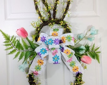 Easter Bunny Grapevine wreath, Easter Grapevine wreath, Easter Bunny, Spring grapevine wreath, Bunny shaped grapevine wreath