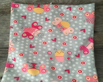 cache neck scarf inifinite scarf pink butterfly baby child grey