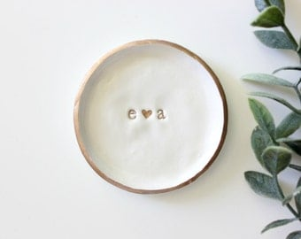 Personalized Initials | Ring Dish | Jewelry Dish | Engagement Ring Dish | Custom Jewelry Dish | Catch all | Personalized Gift