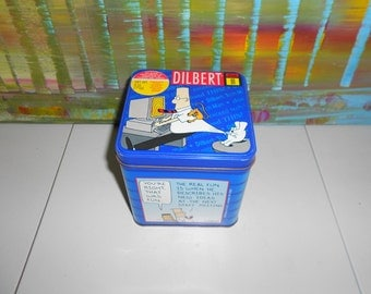 Vintage Dilbert Computer Chip Cookie Tin