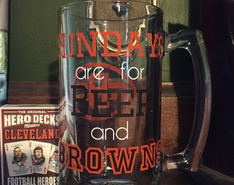 Custom NFL Beer Mug
