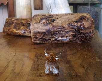 Little Guys Ceramic Longhorn Figurine