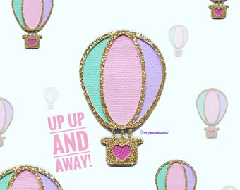 Golden Hot Air Balloon Paper Clip