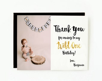 """Thank You For Coming To My Wild One Birthday. PRINTABLE Thank You Card. Where The Wild Things Are Thank You Card. Wild One Thank You. 5x7""""."""