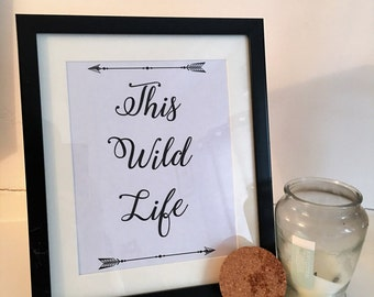 This wild life band print