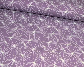 Jersey Finleyson graphically purple mauve women's fabric sold by the meter 0, 50 m