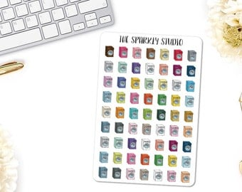 63 Washing Machine Planner Stickers