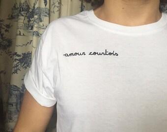 T-shirt mixte Amour courtois.