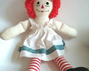 Vintage Raggety Ann Doll, Vintage Rag Doll, Vintage Bedroom Decor, Vintage Nursery, Nursery Decor, Cloth Dolls Handmade, Vintage Decor