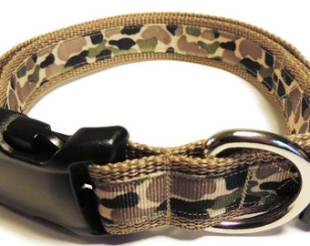 X-Large Light Brown Camo Dog Collar