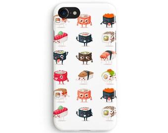Kawaii sushi - iPhone 7 case, Samsung Galaxy S7 case, iPhone 6, iPhone 7 plus, iPhone SE, iPhone 5S, 1C094A