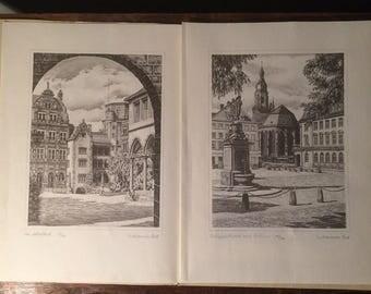 Werner Krawinkel - Heidelberger Impressionen - Etching Prints