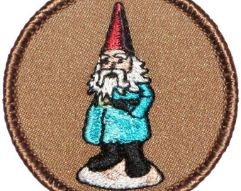 Gnome Patch (217) 2 Inch Diameter Embroidered Patch